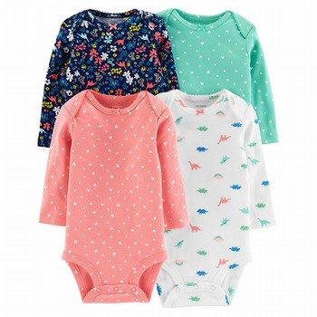 Carter's 4PK Long-Sleeve Original Bodysuits