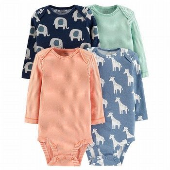 Carter's 4PK Animal Original Bodysuits