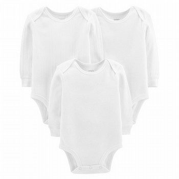 Carter's 3PK L/S Textured Original Bodysuits