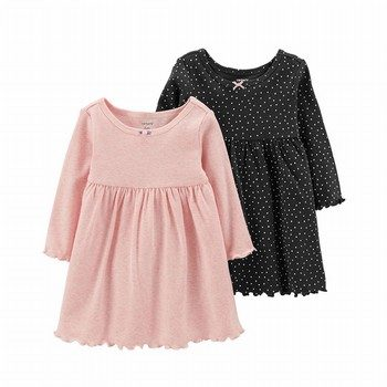 Carter's 2PK Long-Sleeve Dress Set