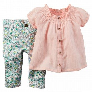 Carter's Floral 2PC Top & Bottom Set