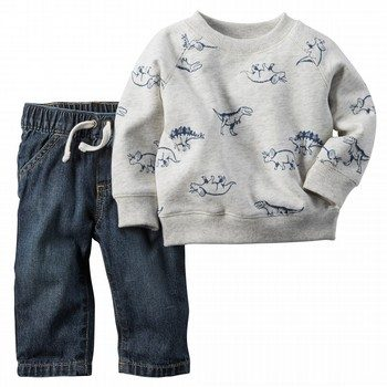 Carter's Dinosaur 2PC Top & Pant Set