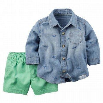 Carter's Dinosaur 2PC Shirt & Pant Set