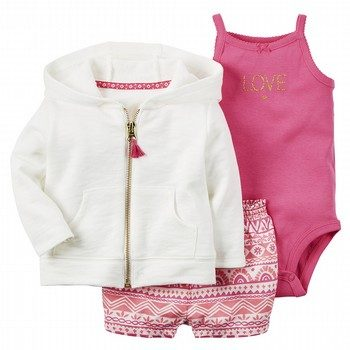 Carter's Moroccan 3PC Cardigan & Bodysuit Set