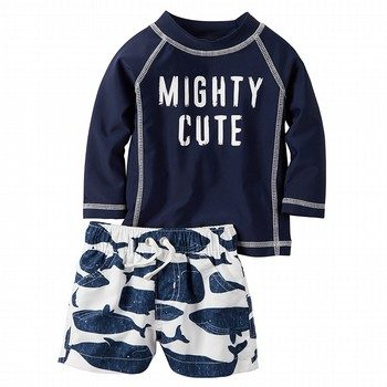 Carter's Little Indigo 2PC Swim Set