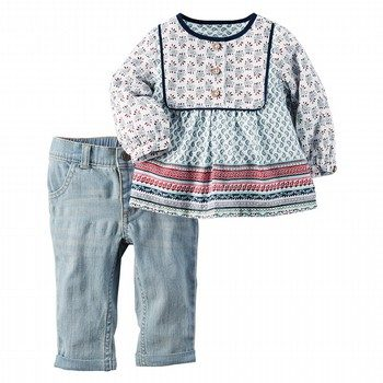 Carter's 2PC Tunic & Denim Set
