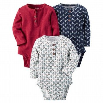 Carter's 3PK Long-Sleeve Bodysuits