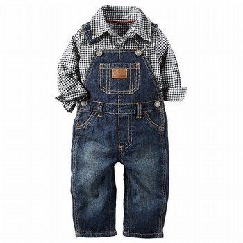 Carter's 2PC Button-Front & Overall Set