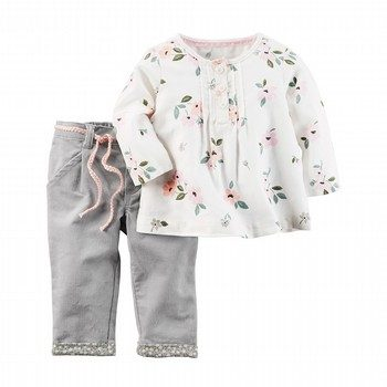 Carter's 2PC Little Flannel Top & Corduroy Pant Set