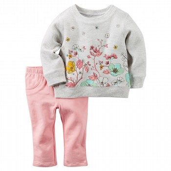Carter's Floral 2PC Top & Pant Set
