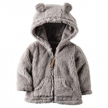Carter's Hooded Sherpa Zip-Front Jacket