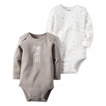 Carter's 2PK L/S Bodysuit Set