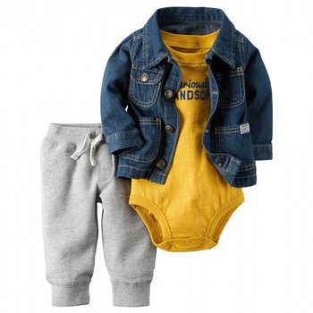 Carter's 3PC Denim Jacket Set