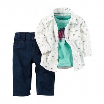 Carter's 3PC Little Tee & Pant Set