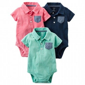 Carter's 3PK S/S Bodysuits Set