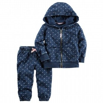 Carter's 2PC Indigo Jacket & Pant Set