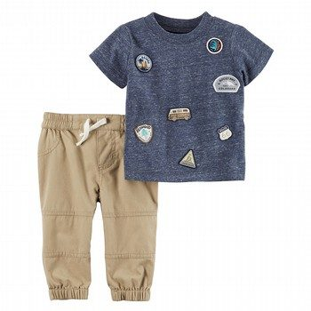 Carter's 2PC Patch Top & Pieced Pant Set