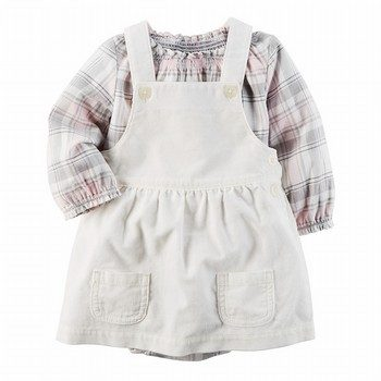 Carter's 2PC Flannel Bodysuit & Corduroy Skirtall Set