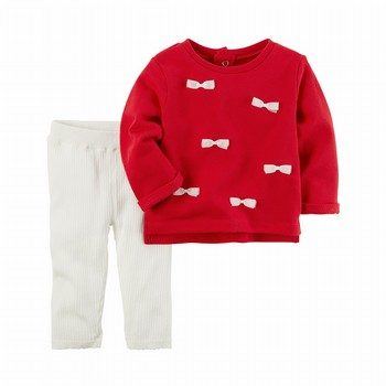 Carter's 2PC Bow Top & Cotton Legging Set