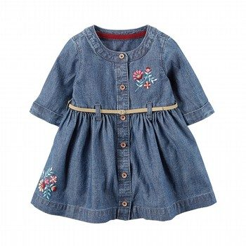 Carter's Embroidered Belted Dress