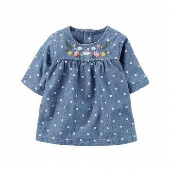 Carter's Chambray Embroidered Tunic