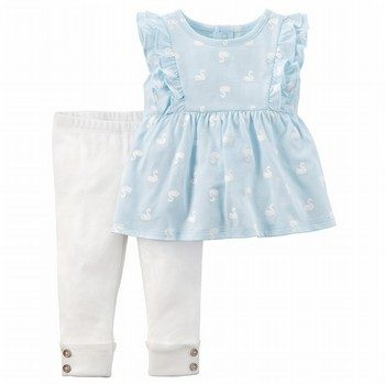 Carter's 2PC Swan Flutter Top & Legging Set
