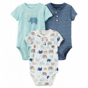 Carter's 3PK Elephant Original Bodysuits