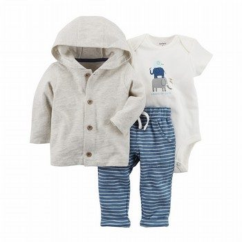 Carter's 3PC Elephant Little Jacket Set