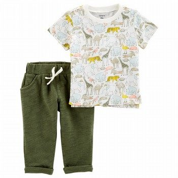 Carter's 2PC Slub Jersey Top & Pant Set