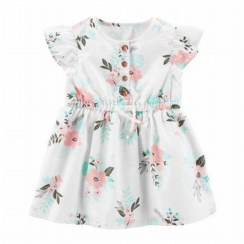 Carter's Floral Flutter-Sleeve Dress