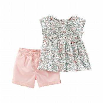 Carter's 2PC Floral Top & Twill Short Set