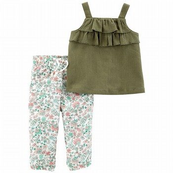 Carter's 2PC Gauze Tank & Floral Jogger Set
