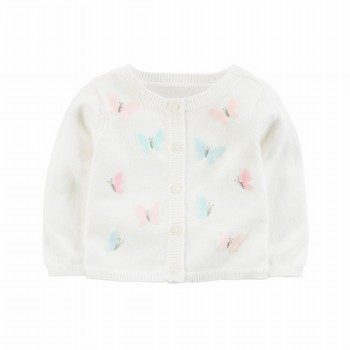 Carter's Button-Front Butterfly Cardigan