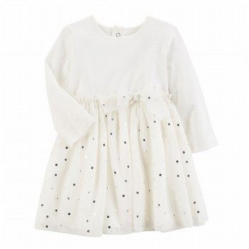 Carter's L/S Polka Dot Tulle Dress