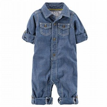 Carter's Little Captain Chambray Jumpsuit
