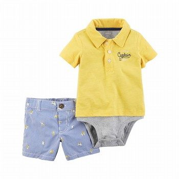 Carter's 2PC Double-Decker Bodysuit & Dog Short Set