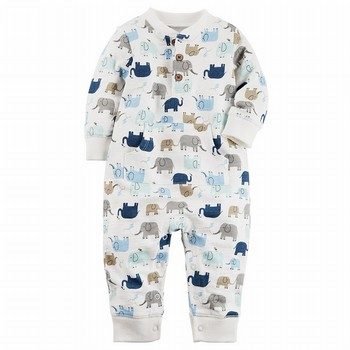 Carter's Elephant French Terry Jumpsuit