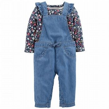 Carter's 2PC Bodysuit & Chambray Overalls Set