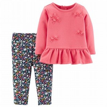 Carter's 2PC Bow Top & Floral Legging Set