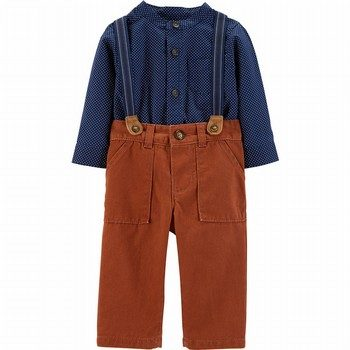 Carter's 2PC Bodysuit & Suspender Pant Set