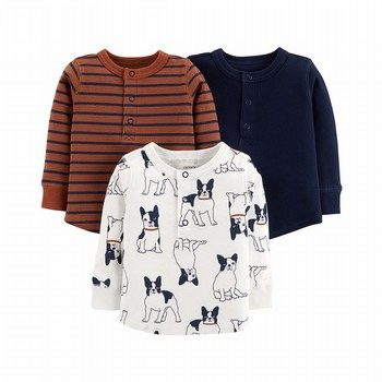 Carter's 3PK Long-Sleeve Henley Tees