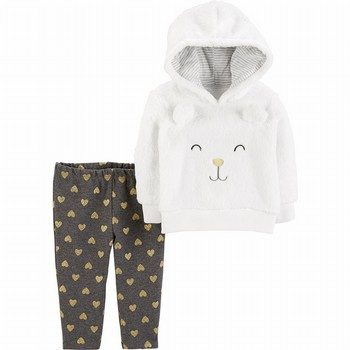 Carter's 2PC Character Hoodie & Heart Pant Set