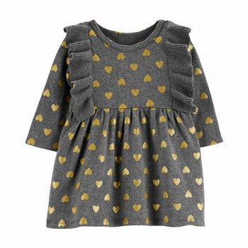 Carter's Heart Ruffle Sweater Dress