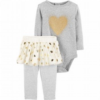 Carter's 2PC Heart Bodysuit & Tutu Pant Set
