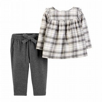 Carter's 2PC Plaid Flannel Top & Pant Set