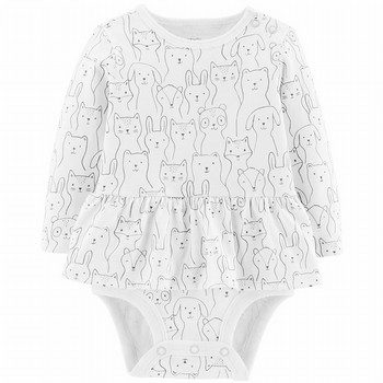 Carter's Animal Double-Decker L/S Bodysuit