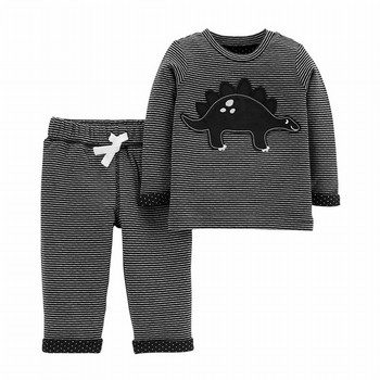 Carter's 2PC Dinosaur Top & Reversible  Pant Set