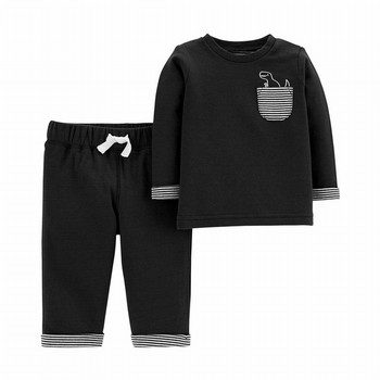 Carter's 2PC Dino Top & Reversible Pant Set