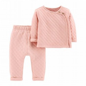 Carter's 2PC Quilted Heather Top & Pant Set