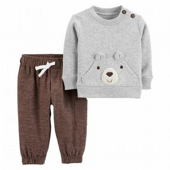 Carter's 2PC Fleece Pullover & Flannel Pant Set